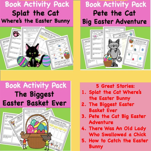 Easter and Spring Read Aloud Activity Packs - Discount Bundle- 5 Great Stories (Digital Version)