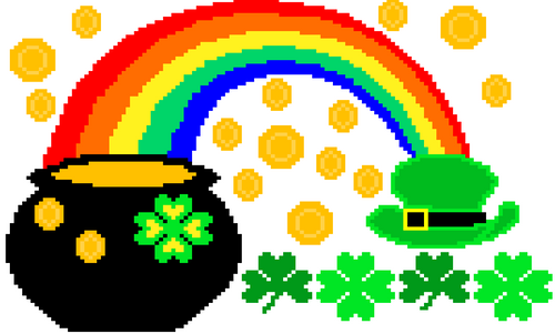 Numbers to 120 & Skip Counting Math Pixel Art Mystery Picture St. Patrick's Day