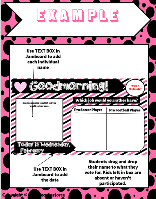 Attendance Tracker Question of the Day Jamboard FEBRUARY WEEK 1 FREE
