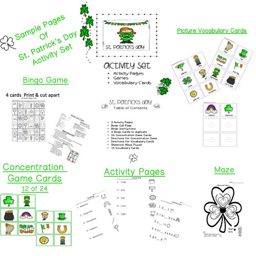 Special Education St. Patrick's Day Activity Set
