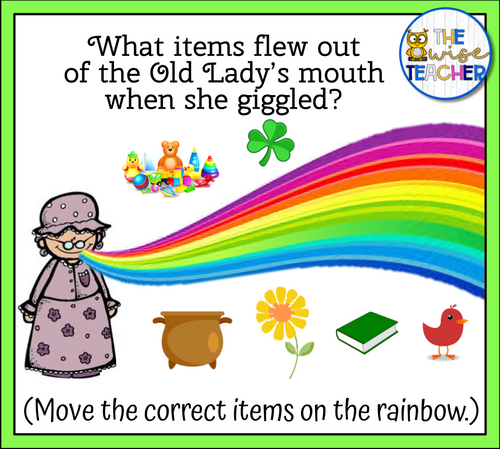 There Was An Old Lady Who Swallowed A Clover (PPT) INTERACTIVE