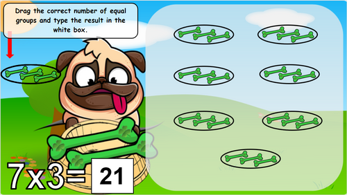 FREE Multiplication Equal Groups | St. Patrick's Day in Google Slides EDITABLE