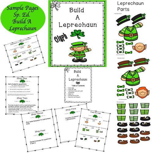 Special Education Build A Leprechaun Glyph