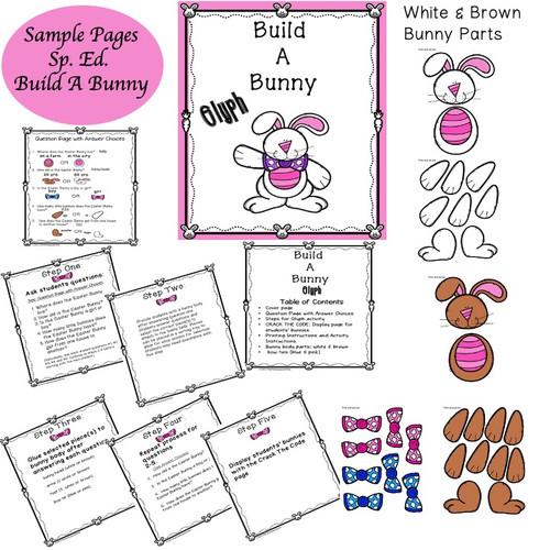 Special Education Build A Bunny Glyph