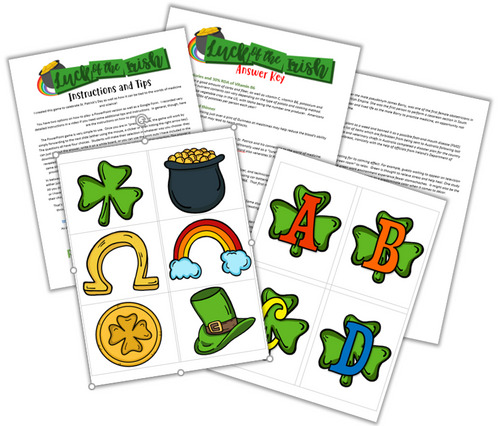 St. Patrick's Day Themed Health Science Activities! Digital Options Included!