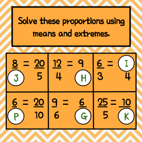 Proportions - Solving with Number Chips
