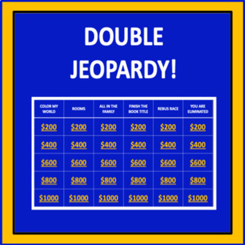 Escape from Mr. Lemoncello's Library Jeopardy