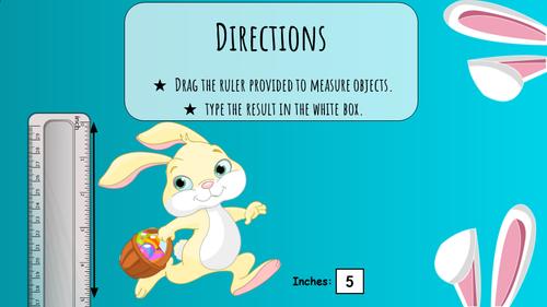Spring Easter Measurement activities | 2nd Grade in Google Slides DIGITAL RULER