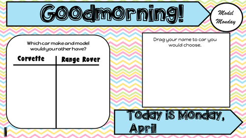 Attendance Tracker Question of the Day Jamboard April