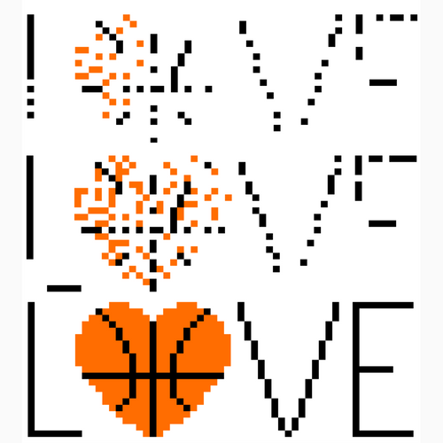 March Madness Basketbal Pixel Art Mystery Picture | Template PRINTABLE & DIGITAL