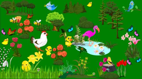 DIGITAL TEMPLATE Easter Egg Hunt | Scavenger Hunt Pixel Art | Spring activity