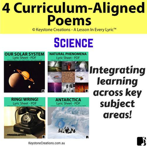 4 CURRICULUM-ALIGNED POEMS (Grades 3-7) ~ Science