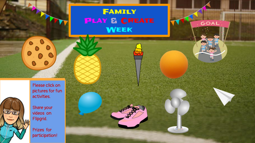 Play & Create Week -Virtual Field Day, PE, Art, & Music
