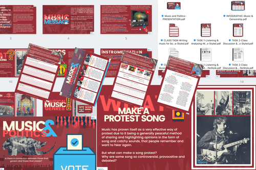 Music and Politics - FULL LESSON-Distance Learning | Google Slides™