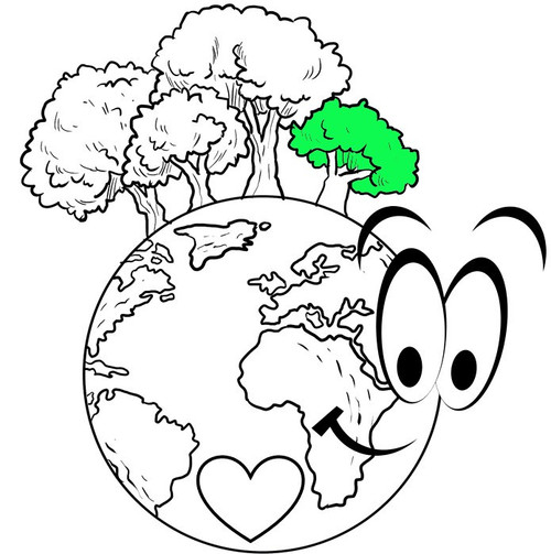 FREE DIGITAL Color by number - Earth Day Math activity - Long Division EDITABLE