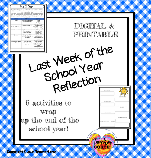 End of the Year Countdown, Reflection Fun & Class Awards Bundle
