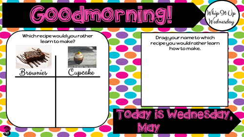 Attendance Tracker Question of the Day Jamboard May