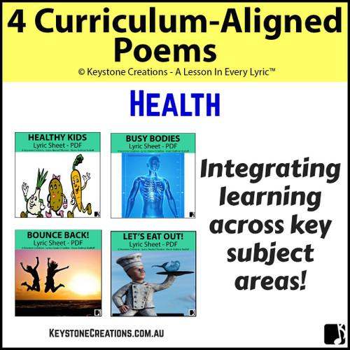 4 CURRICULUM-ALIGNED POEMS (Various Grades) ~ Health
