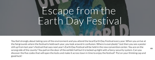 Escape from the Earth Day Festival Digital Escape Room