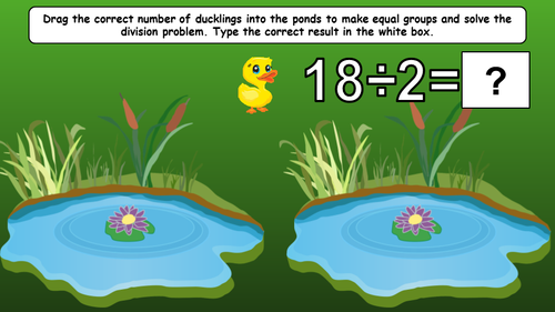 3rd Grade Math Spring Division Equal Groups in Google Slides EDITABLE & DIGITAL