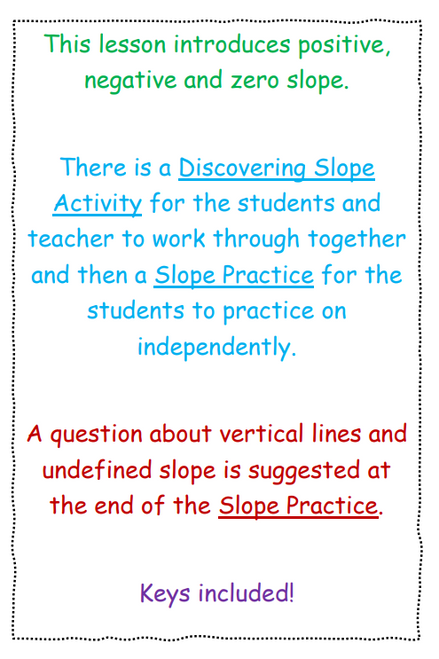 Discovering Slope Activity & Practice