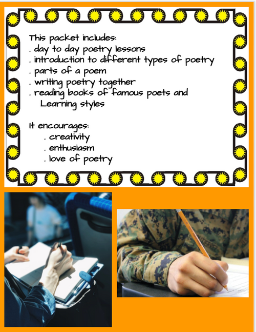 POETRY WRITING UNIT FOR PRIMARY GRADES