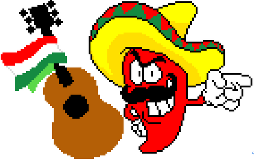 Cinco de Mayo activity Pixel Art Mystery Picture | May DIGITAL Template Editable