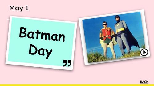 May Celebrate Everyday Calendar