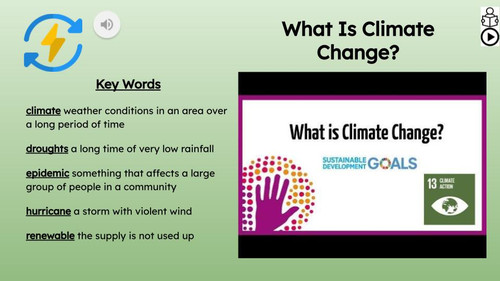 Climate Change Informational Text Reading Passage and Activities