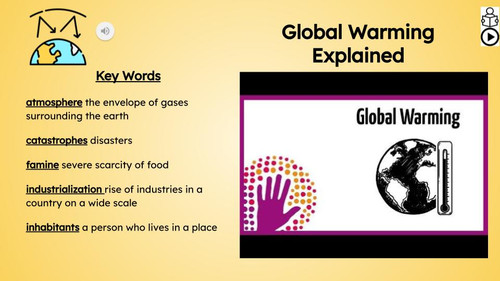 Global Warming Informational Text Reading Passage and Activities