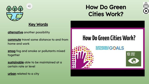 Green Cities Informational Text Reading Passage and Activities