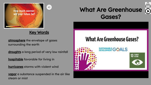 Greenhouse Gases Informational Text Reading Passage and Activities