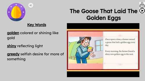 The Golden Eggs Reading Passage and Activities