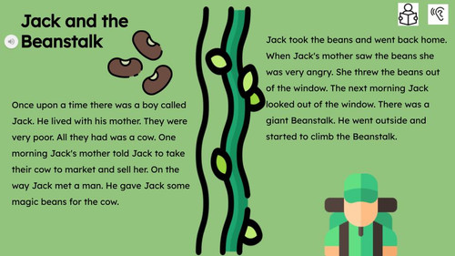 Jack and the Beanstalk Reading Passage and Activities