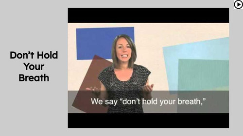 Don't Hold Your Breath Figurative Language Reading Passage and Activities