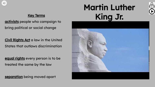 Martin Luther King Jr Informational Text Reading Passage and Activities