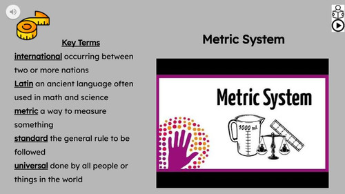 Metric System Informational Text Reading Passage and Activities