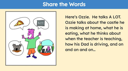 Social Story Share the Words