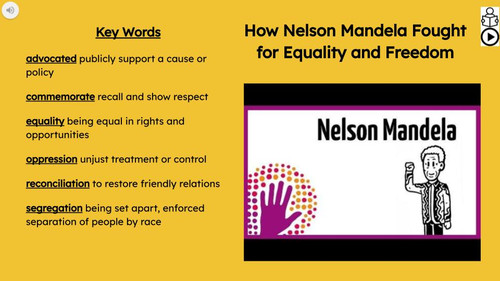 Nelson Mandela Informational Text Reading Passage and Activities