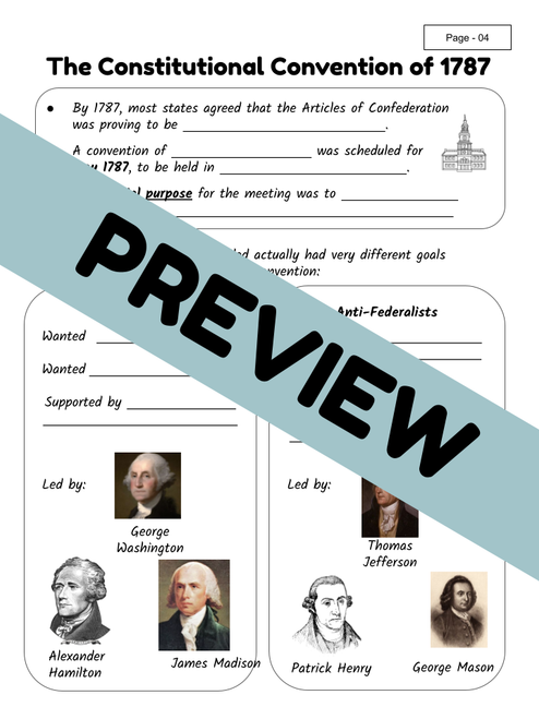 The Writing of the Constitution - Interactive Notes | TEKS/STAAR Social Studies