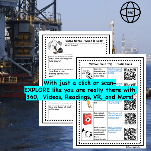 Fossil Fuels Virtual Field Trip  - Printable and Digital Versions Included