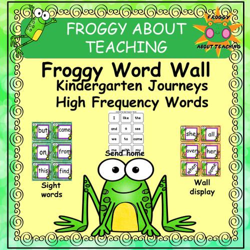 High Frequency Word Bundle for Kindergarten