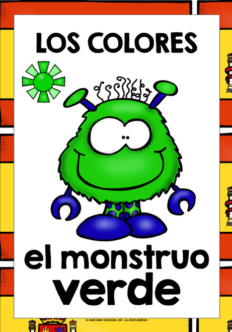 SPANISH FOR CHILDREN COLORS FLASHCARDS