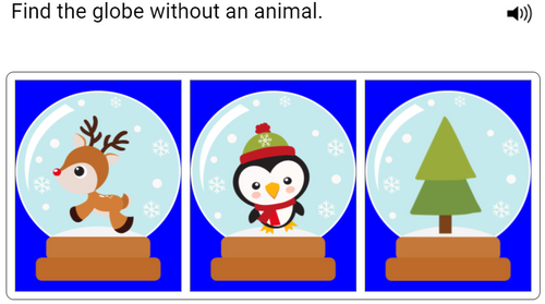 Negatives in Sentences - Winter Level One - Boom Cards™