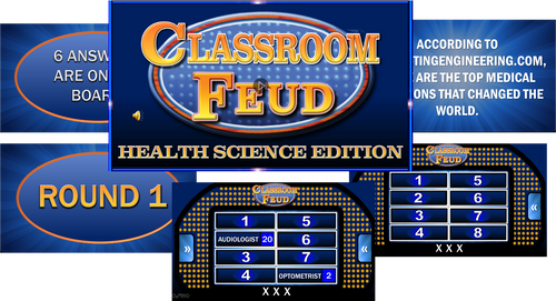 CLASSROOM FEUD-HEALTH SCIENCE EDITION! Great game to bring FUN in the classroom!
