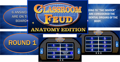 CLASSROOM FEUD- ANATOMY EDITION! Great game to bring FUN in the classroom!