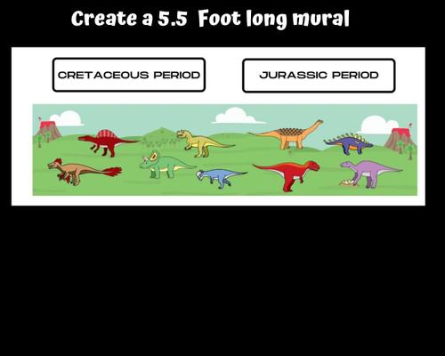 Dinosaur Timeline Wall Mural