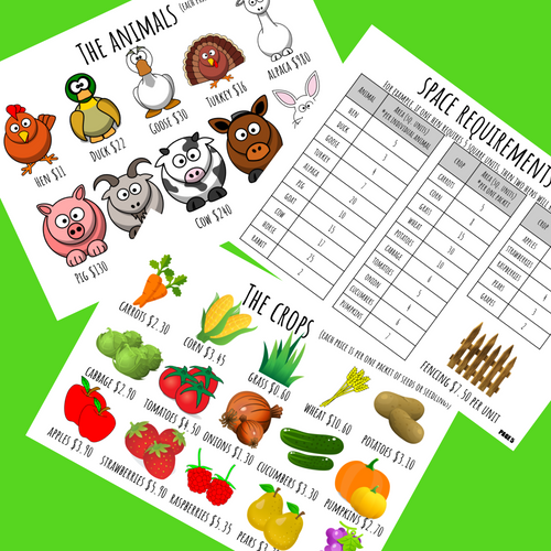 CREATE A FARM PBL Math Enrichment Summer Project Project Based Learning Decimals
