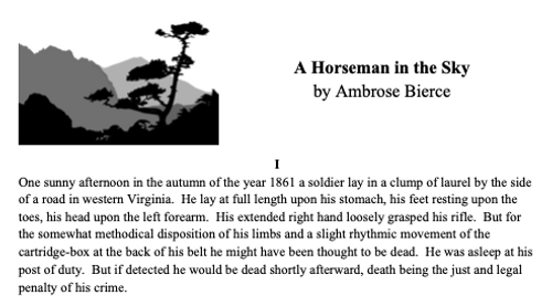 """""""A Horseman in the Sky"""" Lesson and Activity Pack"""