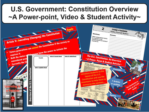 U.S. Government: Constitution Overview | Student Activities | Distance Learning